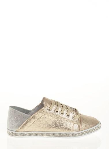Derigo Bağcıklı Ayakkabı Altın